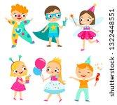 party kids. children in... | Shutterstock .eps vector #1322448551