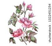 pink rose bouquet floral... | Shutterstock . vector #1322451254