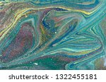 blue and gold marbling pattern. ... | Shutterstock . vector #1322455181
