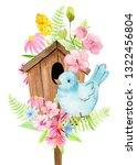 Postcards  Bird And Birdhouse...
