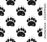 bear paw pattern. bear claw... | Shutterstock .eps vector #1322459261