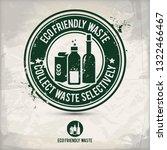 alternative eco waste stamp... | Shutterstock . vector #1322466467