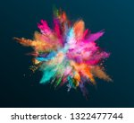 colored powder explosion on... | Shutterstock . vector #1322477744