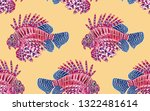 seamless vector pattern with ... | Shutterstock .eps vector #1322481614