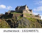 edinburgh castle seen from... | Shutterstock . vector #1322485571