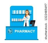 pharmacist drugstore... | Shutterstock .eps vector #1322485697