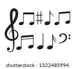music note icon vector... | Shutterstock .eps vector #1322485994