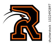 letter r with eagle head. great ...   Shutterstock . vector #1322492897