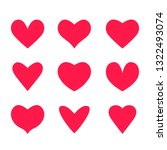 large set of hearts icons in... | Shutterstock .eps vector #1322493074