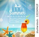 summer holidays illustration... | Shutterstock .eps vector #132249419