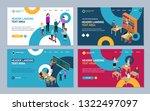 education concept landing web... | Shutterstock .eps vector #1322497097