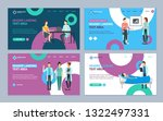 cartoon doctors and patients... | Shutterstock .eps vector #1322497331