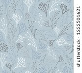 Vector Sprigs Nursery repeat pattern with Cadet Gray colour background. Perfect for Fabric,Wall paper,Crib sheets,Curtains,Throw pillows,Baby shower gift wrap and Nature inspired projects.