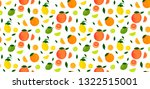 seamless pattern of citrus...   Shutterstock .eps vector #1322515001