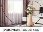 Fibonacci Spiral And Vase With...