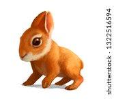 digital painting of a little... | Shutterstock . vector #1322516594