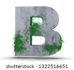 Concrete Capital Letter   B...