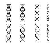 set of dna symbols.... | Shutterstock .eps vector #1322517401