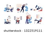 bundle of people unable to... | Shutterstock .eps vector #1322519111