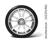 Car Wheel With Tire Isolated O...