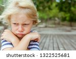face portrait of annoyed and... | Shutterstock . vector #1322525681