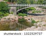 scenery around vals les bains ... | Shutterstock . vector #1322529737