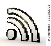 3d graphic  wireless lan wifi... | Shutterstock . vector #132253721