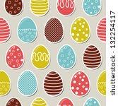 seamless bright easter pattern... | Shutterstock .eps vector #132254117