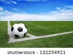 soccer football field stadium... | Shutterstock . vector #132254921