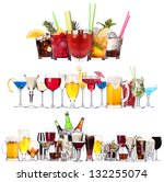 Set Different Alcoholic Drinks Cocktails - Fine Art prints