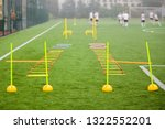 soccer field with training...   Shutterstock . vector #1322552201