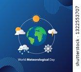 world meteorological day  | Shutterstock .eps vector #1322553707