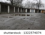 old  neglected  ruined garages. ...   Shutterstock . vector #1322574074