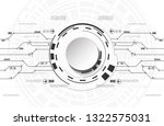abstract futuristic technology... | Shutterstock .eps vector #1322575031