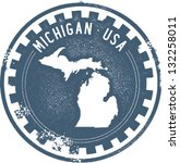 ann arbor,badge,classic,detroit michigan,distressed,gear,grunge,icon,industrial,map,michigan,outline,retro,seal,state