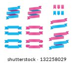 pink   blue ribbons | Shutterstock .eps vector #132258029