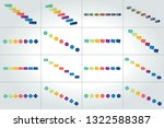 mega set of timeline...   Shutterstock .eps vector #1322588387
