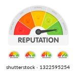 reputation meter withdifferent...   Shutterstock .eps vector #1322595254