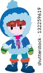 boy in winter clothes | Shutterstock .eps vector #132259619