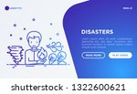 disasters web page template... | Shutterstock .eps vector #1322600621