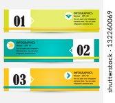 modern bright infographic set...   Shutterstock .eps vector #132260069