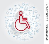 disabled icon in trendy style... | Shutterstock .eps vector #1322603474