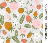 berry seamless pattern for... | Shutterstock .eps vector #1322606777