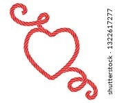 twisted vector rope heart icon...   Shutterstock .eps vector #1322617277