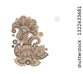 paisley vector isolated ornament   Shutterstock .eps vector #1322633681