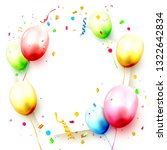happy birthday celebration... | Shutterstock .eps vector #1322642834