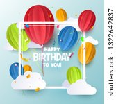 birthday flyer  background or... | Shutterstock .eps vector #1322642837