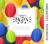 easter flyer  background or... | Shutterstock .eps vector #1322642864