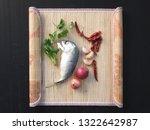 delicious mackerel with... | Shutterstock . vector #1322642987