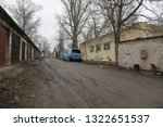 old  neglected  ruined garages. ...   Shutterstock . vector #1322651537